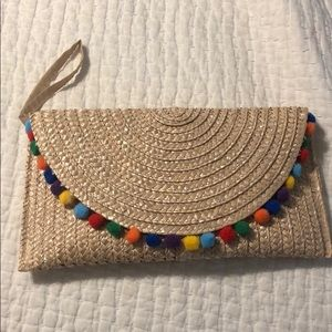 Handbags - Natural woven large clutch bag